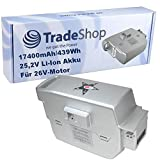 Trade-Shop Premium Li-Ion Akku 25,2V für 26V...