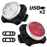 Nasharia Fahrradlicht LED Set, USB...