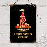 Raleigh Headbadge Vintage Bike Cycle Steel Tin...
