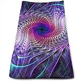 QIAOJIE Yoga Mats Purple Psychedelic Trippy Art...