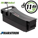 Maratron E-Bike Akku 36V 11Ah (400Wh) mit...