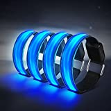 4 Stück LED Armband, Alviller Reflective Led...