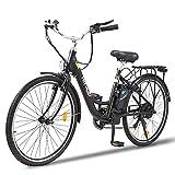 HITWAY 26 Zoll Elektrofahrrad City E-Bike mit 250W...
