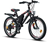 Licorne Bike Guide, (Schwarz/Rot/Grau),20 Zoll...
