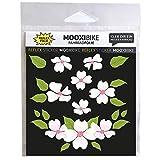 MOOXIBIKE Sticker Flower Power rosa reflektierend,...