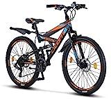 Licorne Bike Strong D 26 Zoll Mountainbike Fully,...