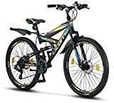 Licorne Bike Strong D (Schwarz/Blau/Lime) 26 Zoll...